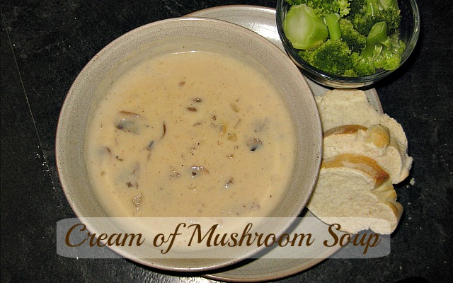 finished cream of mushroom soup