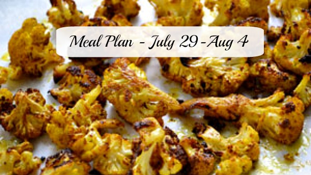 Meal plan July 2914