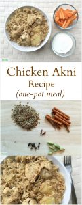 Chicken Akni Recipe