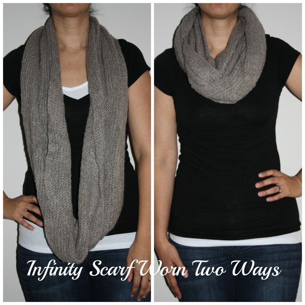 Infinity Scarf Worn Two Way