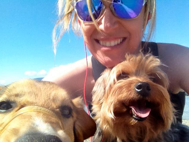 Jody Vance with her dogs