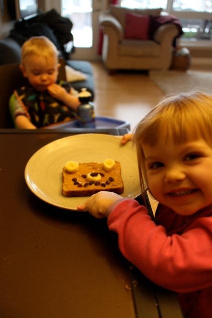 finished teddy bear toast