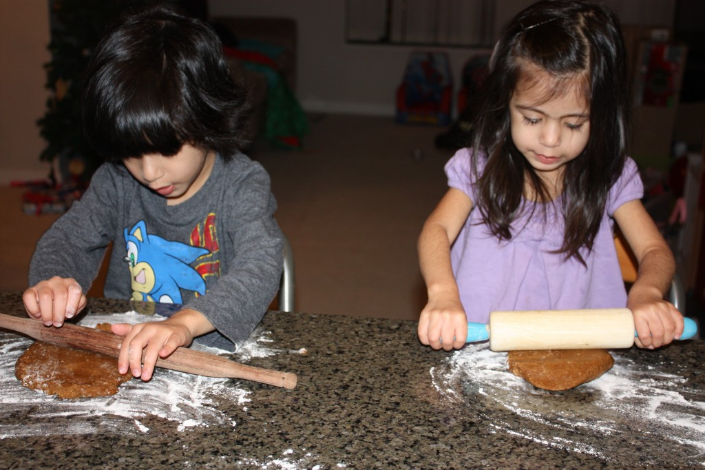 roll out gingerbread dough