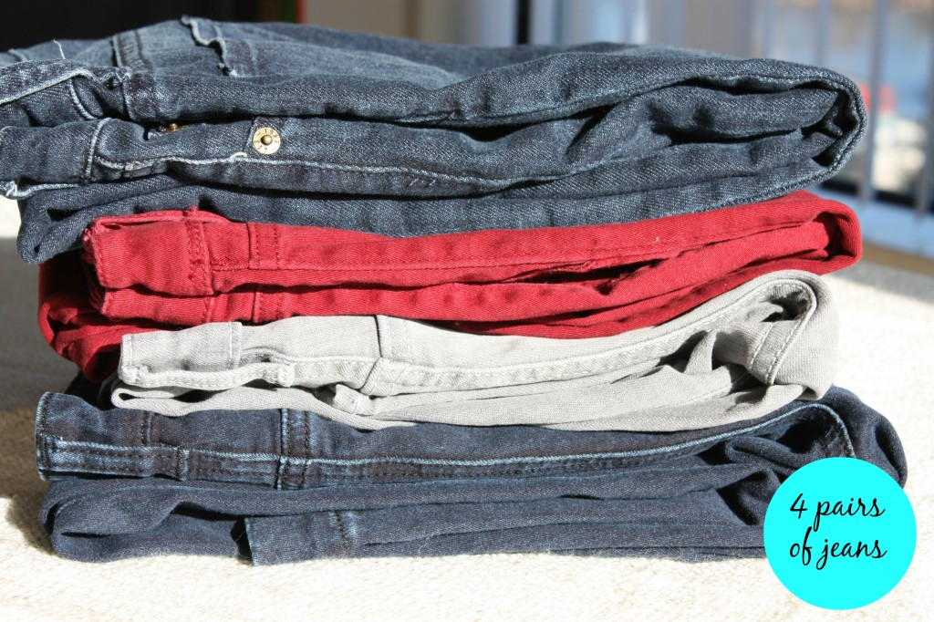 4 pairs of jeans
