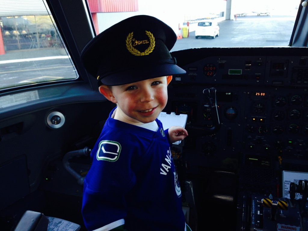 Steve Darling son as pilot