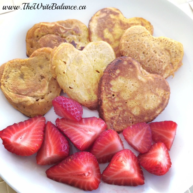 Heart-Shaped Pumpkin Pancakes