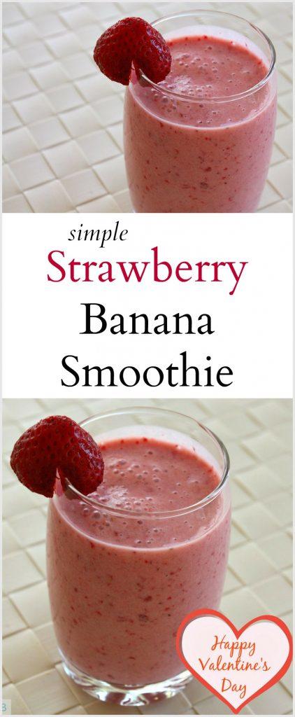 Strawberry Banana Smoothie   Valentine's Day Smoothie