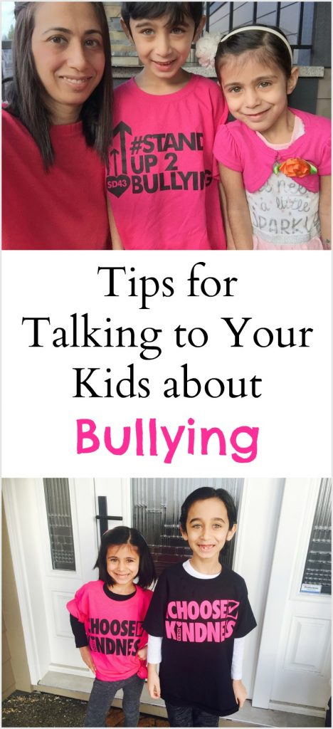 Tips on talking to kids about bullying