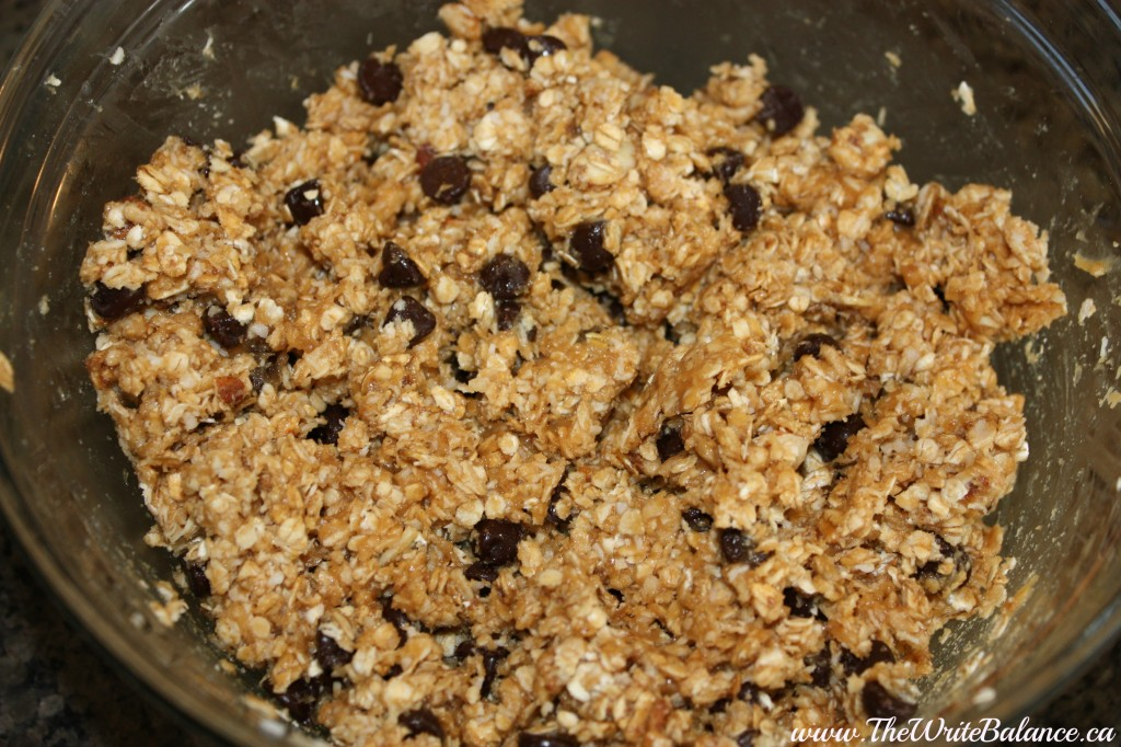 combined granola ball ingredients