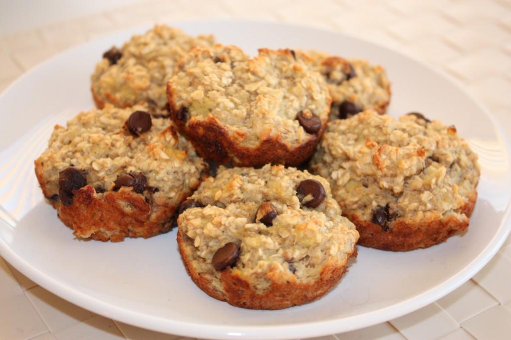 finished banana oatmeal breakfast muffins