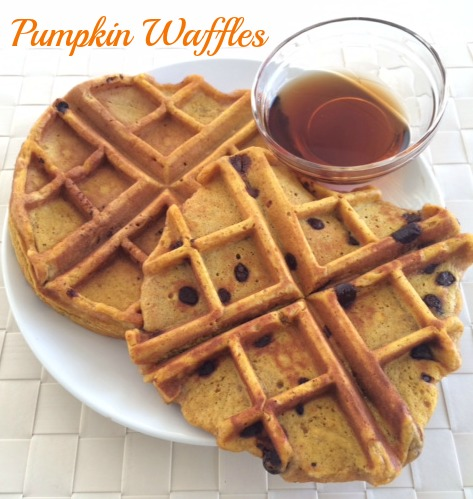 finished pumpkin waffles IG