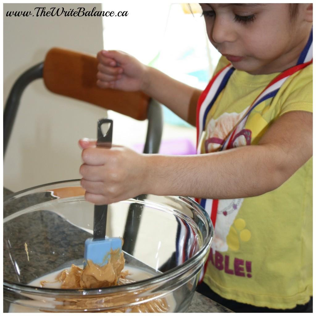 kyah mixing granola balls