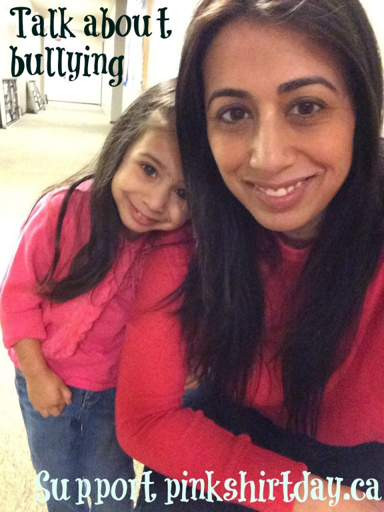pink shirt day - mother daughter