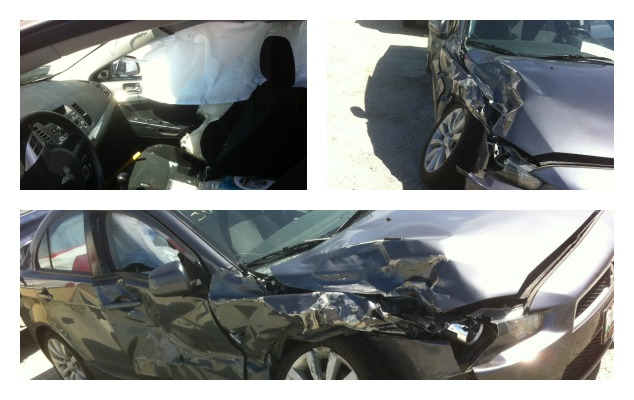 car accident picture collage
