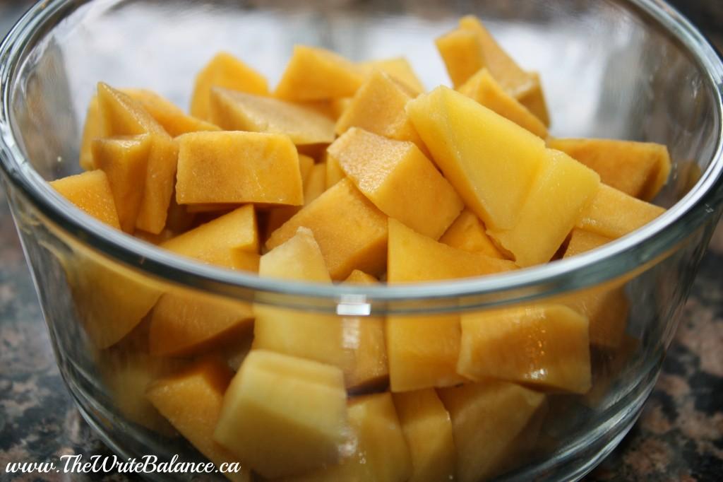 cubed mangos