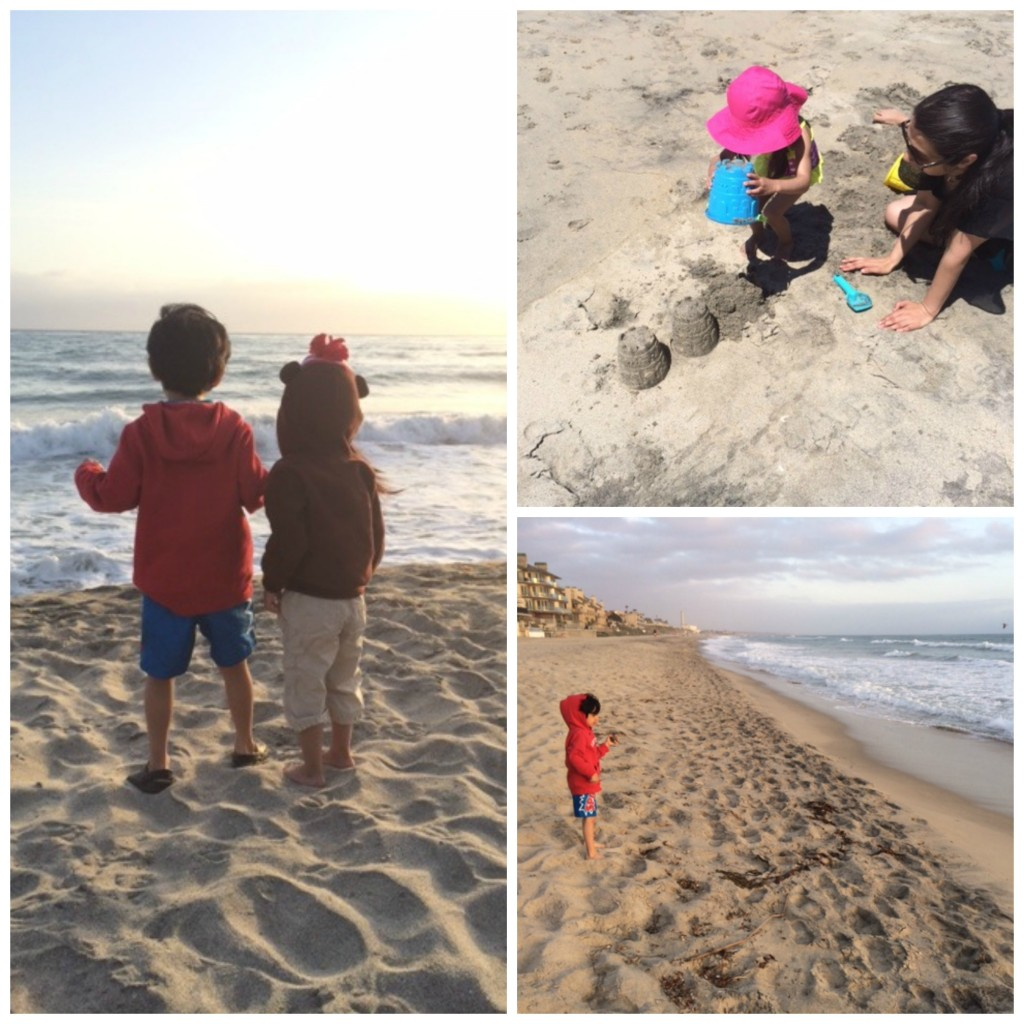 kids at the beach Collage