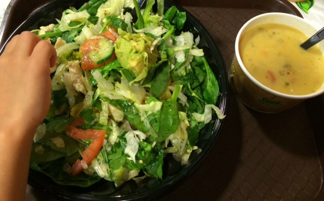 subway salad & soup