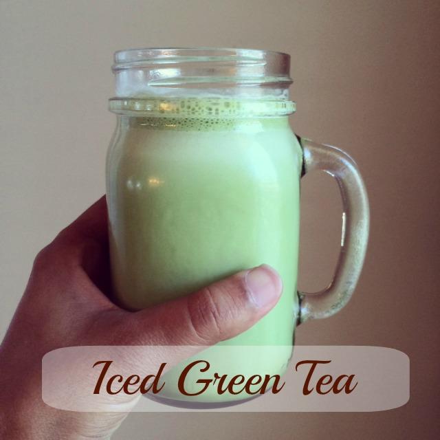 Iced Green tea top