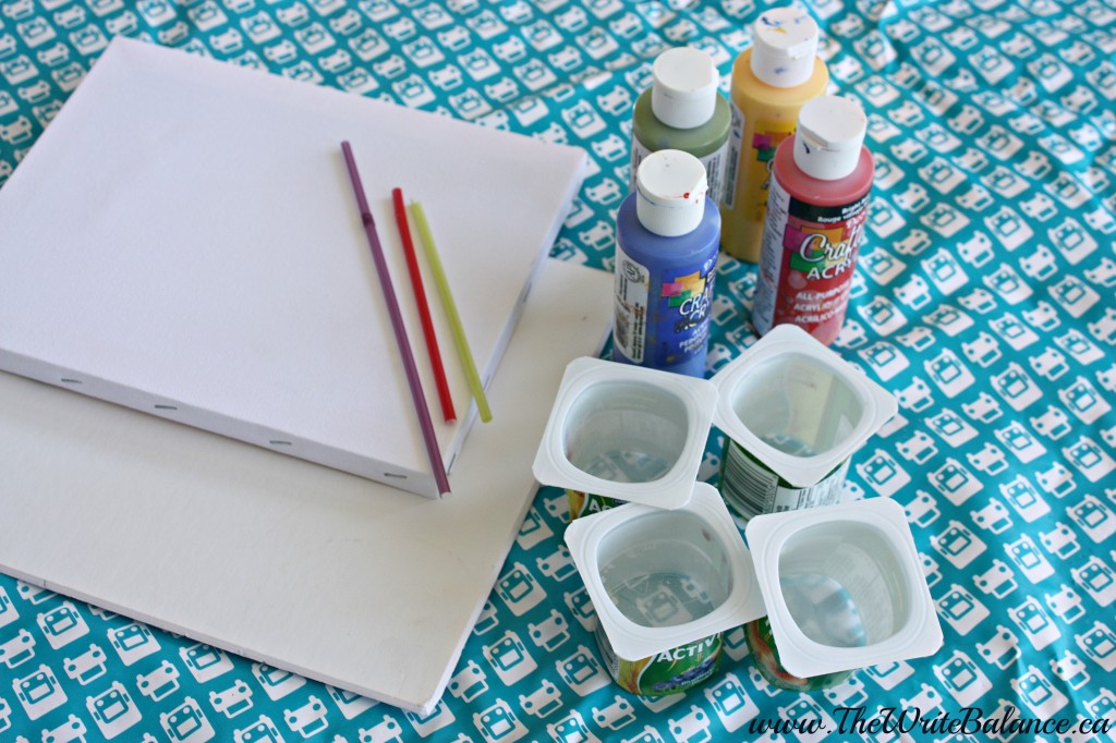 straw painting supplies