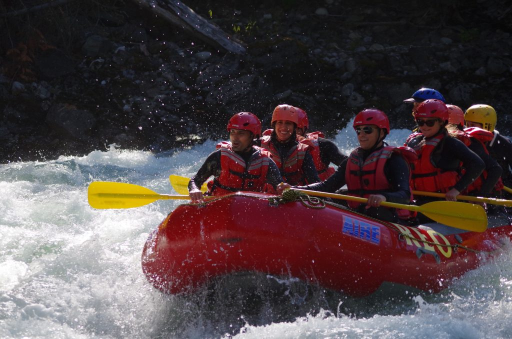 Anniversary date - white water rafting with REO Rafting