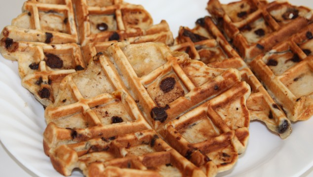 banana chocolate waffles feature