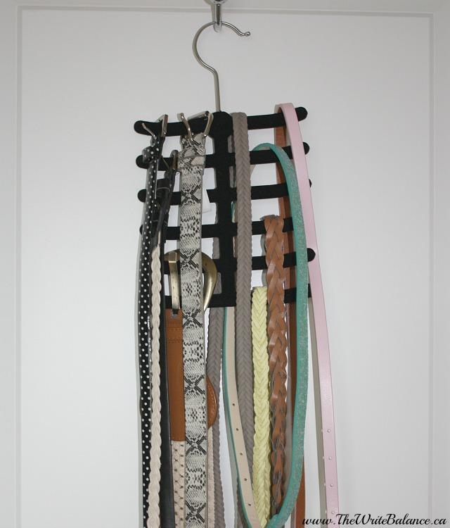 organize belts long