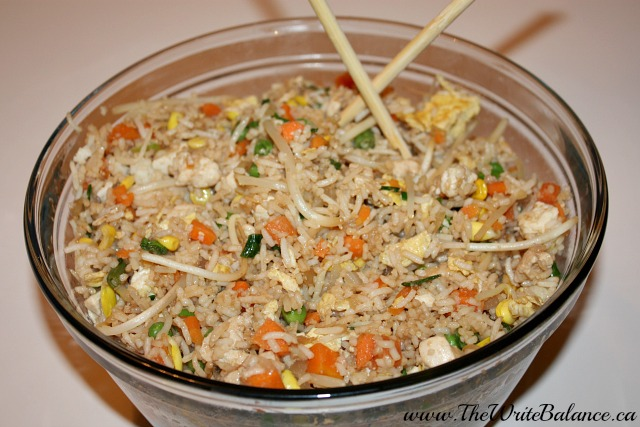 finished chicken fried rice