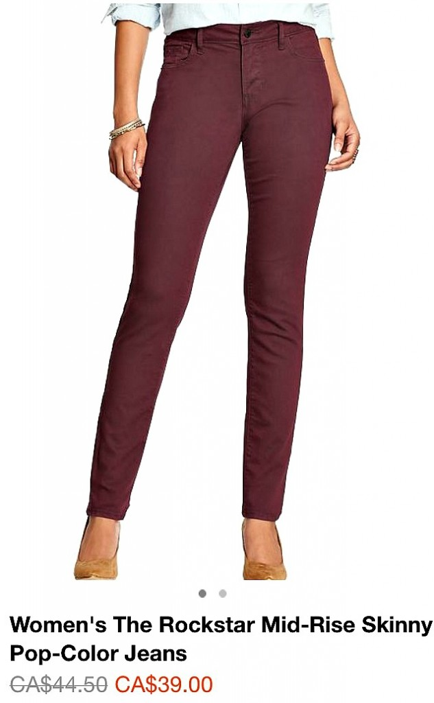 old navy wine jeans