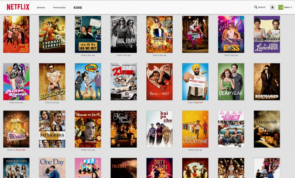 Screen Shot My list on Netflix