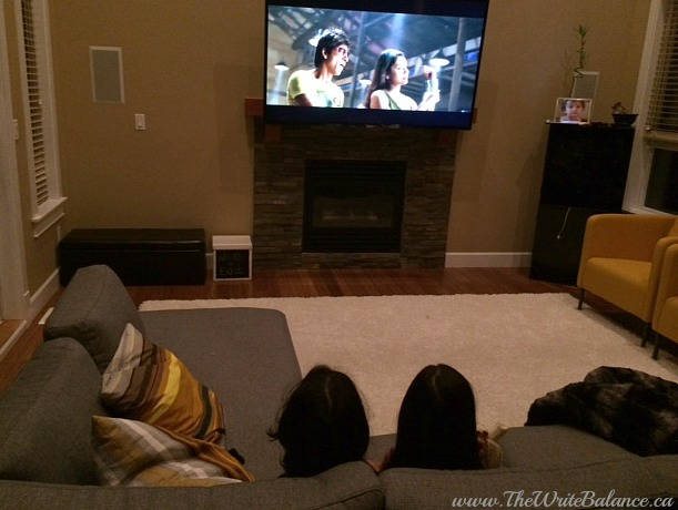 kids watching Bollywood movie