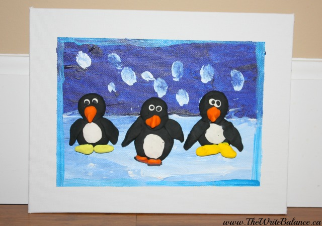 4cats finished penguin art