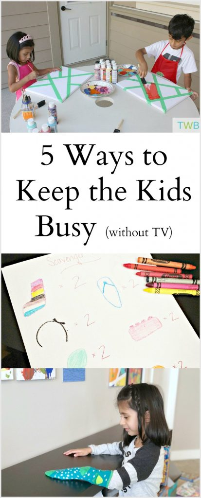 5 Ways to Keep the Kids Busy, without TV