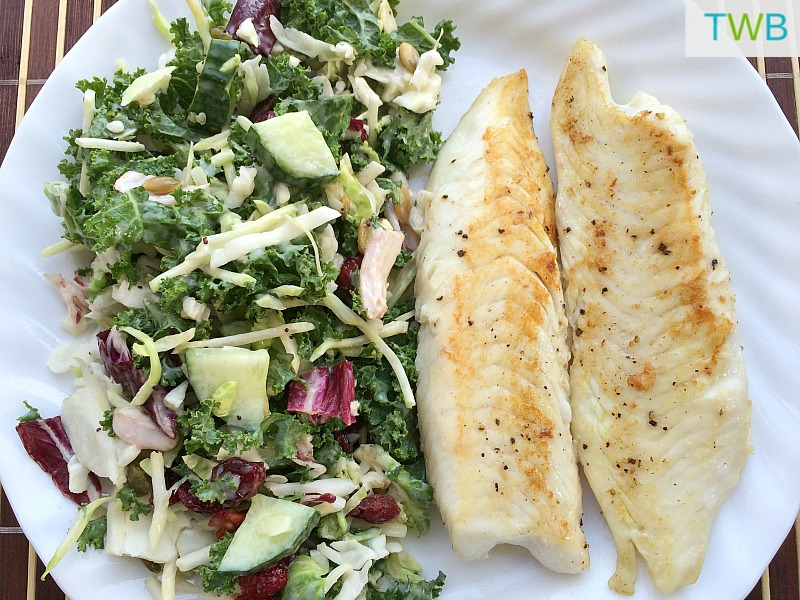 Seasoned Tilapia with salad