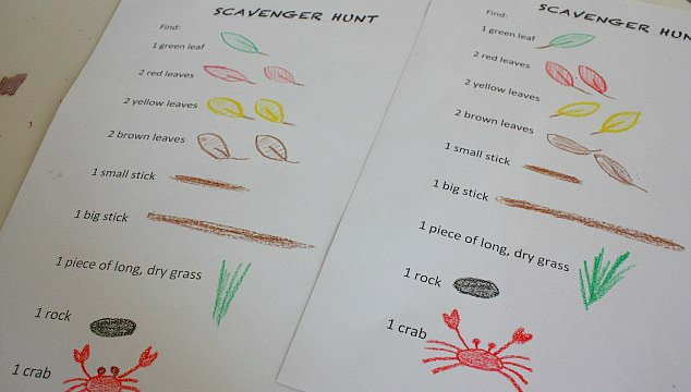 Spring Crafts and activities - outdoor scavenger hunt