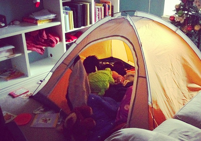 Staycation Ideas - Indoor Camping