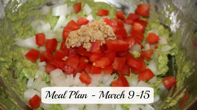 Meal plan march 9-15