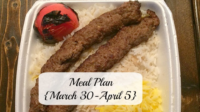 meal plan march 3015
