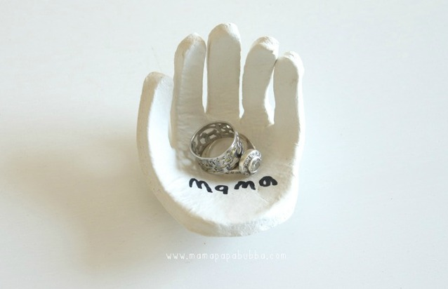 5 Homemade Mother's Day Gift Ideas - Hand-Shaped-Ring-Dish