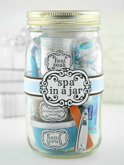 5 Homemade Mother's Day Gift Ideas - spa in a jar