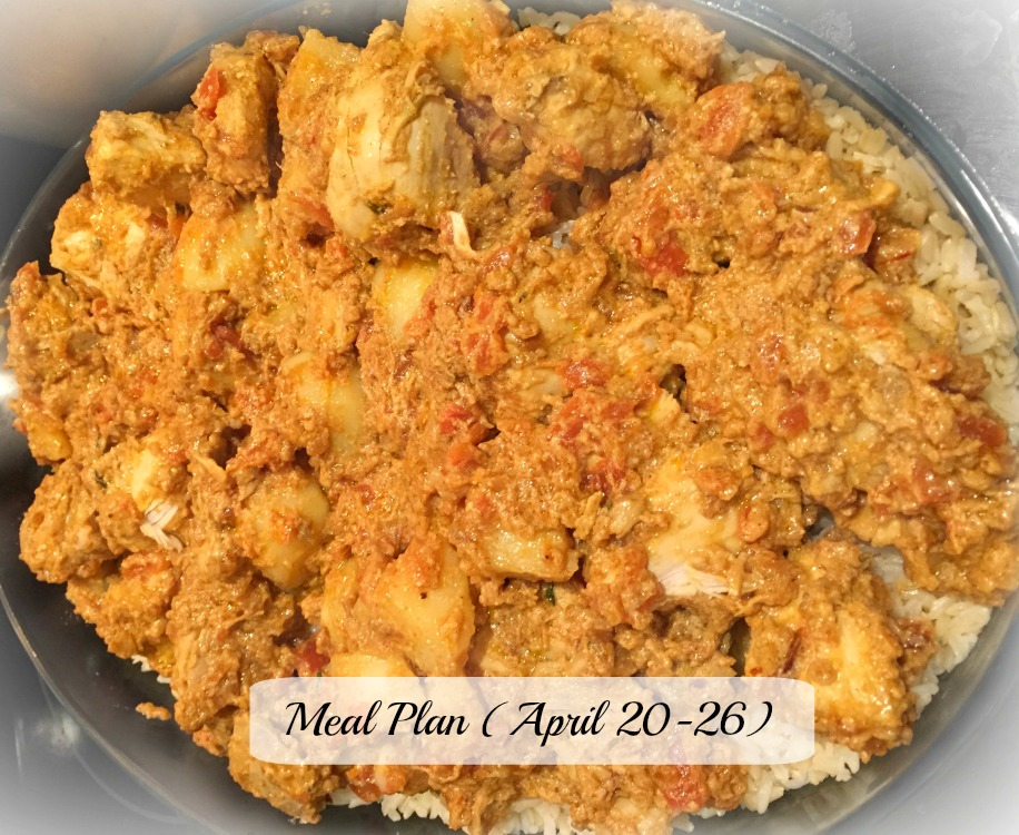 meal plan April 20