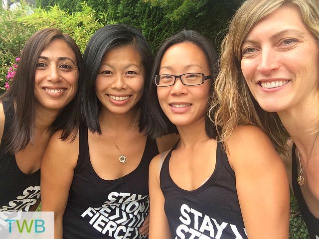 Mudderella Team: Me, Sharon, Tiffany & Alana