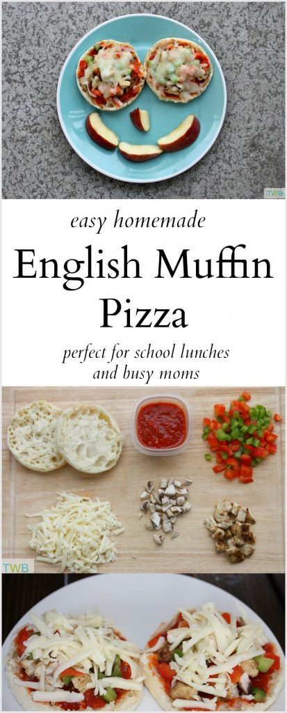 Easy English Muffin Pizza for lunch