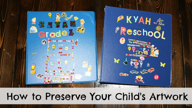 How to save and store your children's artwork