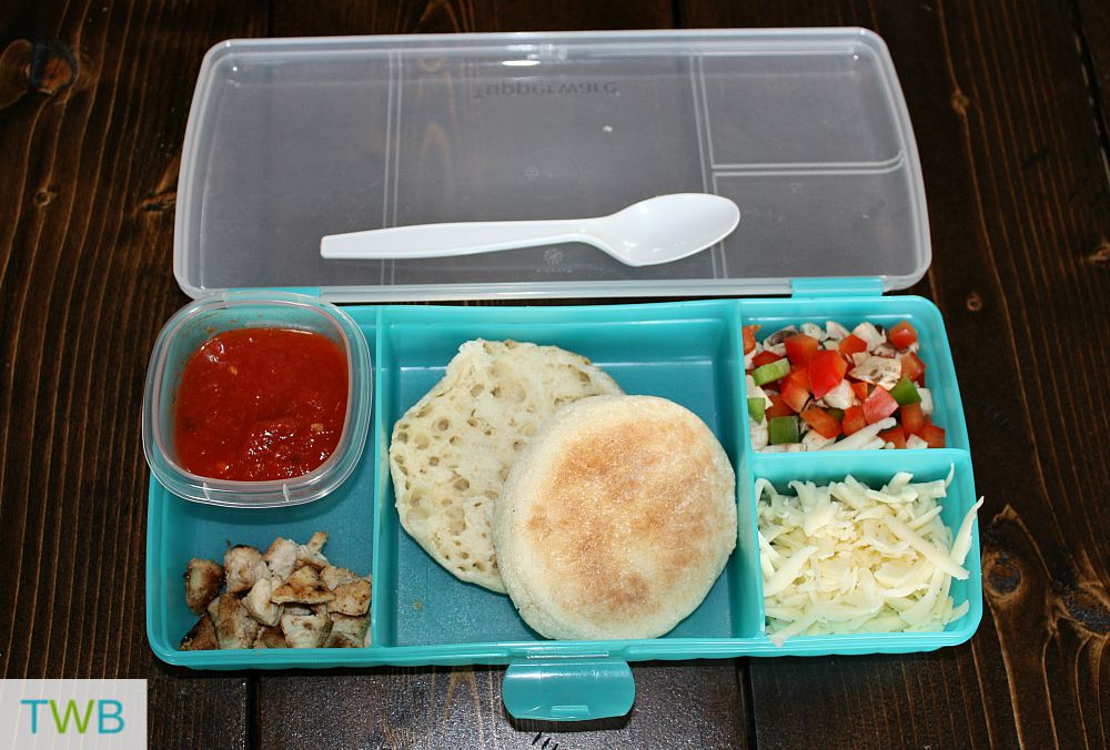 make your own pizza in a lunch box