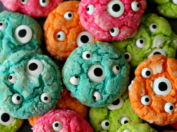 Halloween Gooey Monster Cookies