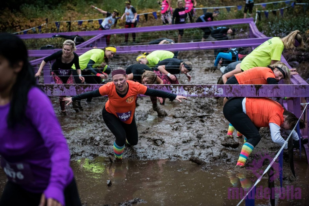 Mudderella 2015 - barbed wire obstacle