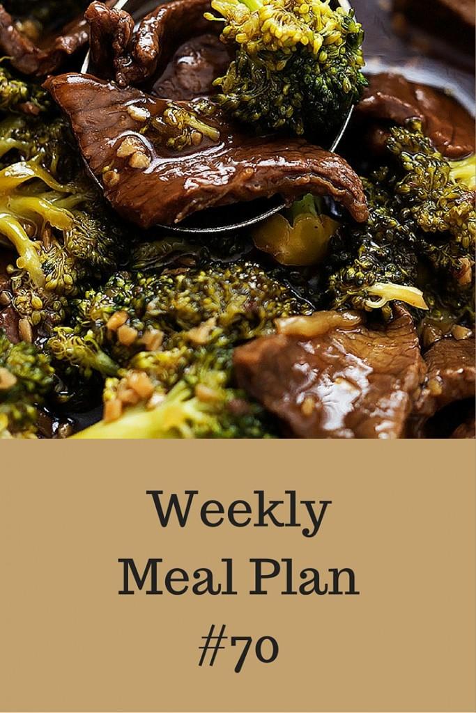 Weekly Meal Plan #70