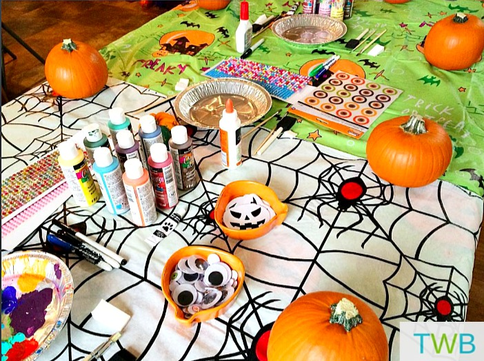 Pumpkin decorating supplies