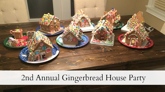 2nd annual gingerbread house party - feature