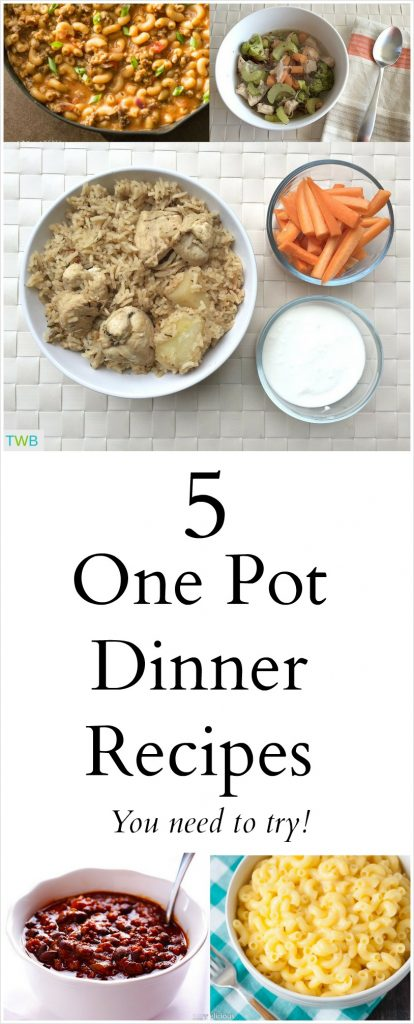 5 One Pot Dinners to Try